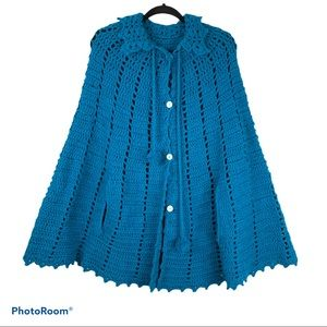 Handmade Knitted Sweater Poncho
